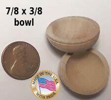 5pcs 7/8 x 3/8 unfinished raw miniature dollhouse / craft bowl