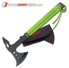 """15"""" Mtech Usa Survival Tactical Tomahawk Throwing Axe Knife Hawk Hatchet Green"""