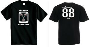 BACK TO THE FUTURE T SHIRT  Delorean FLUX CAPACITOR T-Shirts Mens Marty McFly