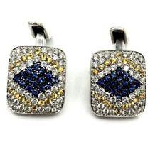 Stylish 1.99 cts of diamonds 18k white gold gorgeous pair CUFFLINKS