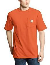 Carhartt Men's K87 Workwear Pocket T-Shirt - Orange - L