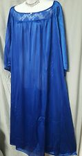 VALENTINE BLUE ANKLE LENGTH  NIGHTGOWN 3/4 SLEEVE    SIZE 3X NIP