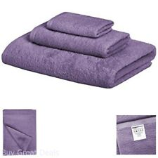 Bathroom Towel Set Quick Dry Soft Washcloth Hand Face Towels 3-Piece Lavender Us