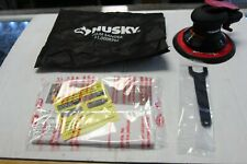 """Husky 6"""" Low Vibration Palm Sander Low Weight Less Noise Rubberized Air Tool"""