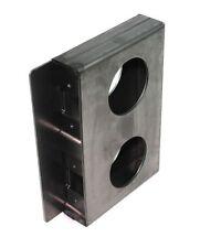 """Gate Lockbox Double Hole Weldable Steel 6 3/4"""" x 4 3/8"""" x 1 1/4"""" Unpainted"""