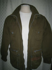 STRUCTURE MILITARY STYLE KHAKI GREEN JACKET MEN SIZE S GREAT VINTAGE