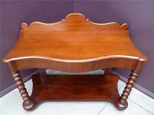 Mahogany Console Table, Hall Table, drawer, cotton reel legs resawreck-antiques