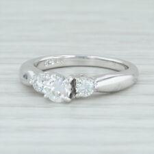 52ctw Diamond 3-Stone Engagement Ring - 14k White Gold Size 4.5 Women's