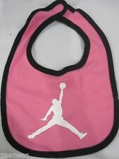 NWOT Nike Air Jordan Baby Girls Pink Black Bib