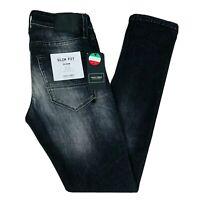 JACK & JONES Homme 'S Glenn Slim Fit Taille Basse Gris Jean Taille W30 L32