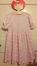 Vintage/ Retro Pink Anglaise Broderie Floral Dress m&S St.Michael 1970s Age 7-8