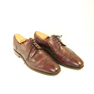 Florsheim Imperial Men's Burgundy Leather Wing Tip Brogue Dress Shoe Size 8.5 D