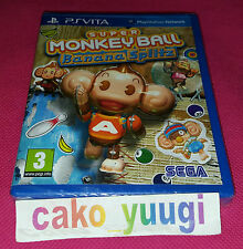 SUPER MONKEY BALL BANANA SPLITZ SONY PS VITA NEUF SOUS BLISTER VERSION FRANCAISE