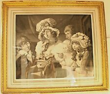 Pair of Framed 18th Century Black & White Engravings