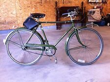 "Vintage Men's Green Raleigh Sports 3 spd 26"" bicycle Nottingham New England"