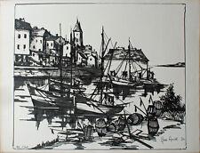 Jean Amiot (1920) lithographie originale de 1974 dim. 49 x 65 cm