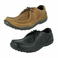 Mens Pod  NV324 62088 Black or Nutmeg Leather Casual Lace Up Shoes