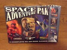 Vintage Pc Cd-Rom Space Adventure Pack Wing Commander Iii Crusader Shockwave New