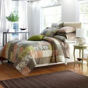The Company Store Quilt Comforter Eliza Patchwork 100% Cotton Twin
