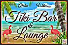TIKI BAR LOUNGE ALL WEATHER METAL SIGN 8X12 MAN CAVE HAPPY HOUR BEACH ART DECO