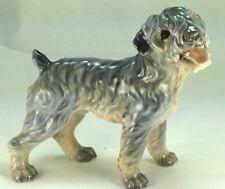 "Vintage Dahl Jensen Copenhagen ""Kerry Blue Terrier"" #1080 Porcelain Figurine"