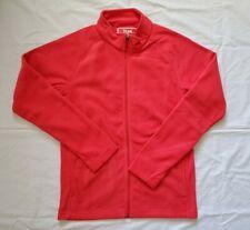 New Team 365 Full Zip Fleece Long Sleeve Jacket Men's Xs Red