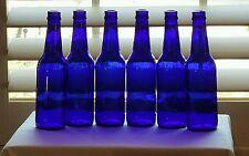 (21) Cobalt Blue Glass Beer Bottles Crafts Bottle Trees Lawn Yard Ornaments