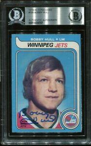 BLACKHAWKS HOF BOBBY HULL signed autographed 1979-80 OPC CARD BECKETT (BAS)