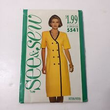 See & Sew 5541 Size 18 20 22 Misses' Dress