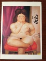 FERNANDO BOTERO HAND SIGNED OFFSET LITHOGRAPH OF SEATED WOMAN 1978