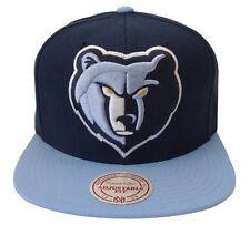 Memphis Grizzlies Mitchell & Ness STA3 XL Logo Blue HWC Snapback Hat Cap NBA