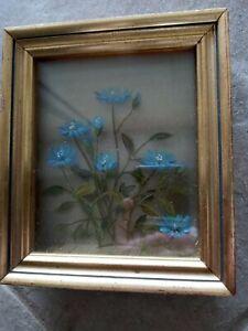 Original 3-D Oil Painting Wildflowers Edmond J Nogar Signed No. W-5940