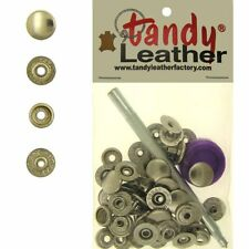 Tandy Leathercraft 7/16 Inch Line 20 Snap fastener kit CT.15 w/Tools - Nickel