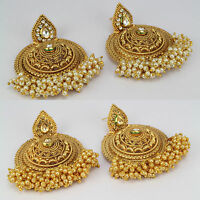 New arrival gold plated chand style eithnic dangling Earring women new Indian