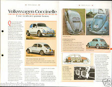Volkswagen Coccinelle Ferdinand Porsche New Beetle Germany Car Bis FICHE FRANCE
