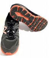 New Balance 750 Shoes Boys Size 5 Women's 6.5 Gray Black Orange #KJ750GOY EUC!