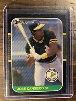 1987 Donruss Jose Canseco #97 Baseball Card MLB Oakland A's Athletics Free Ship