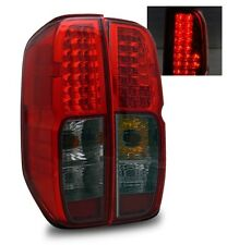 Fit 05-12 Nissan Frontier Red Smoke LED Tail Lights Rear Brake Lamps Left+Right
