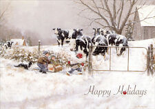 Children & Cows: My Turn - Box of 18 Christmas Cards by LPG Greetings