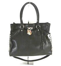 Micheal Kors Black Leather Hand Bag Satchel *1008