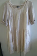 Ladies Witchery Size M Dress Knit Short Sleeves Cotton Blend