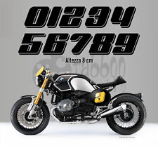 Adhesive sticker number Cafe Racer Scrambler moto custom autocollant