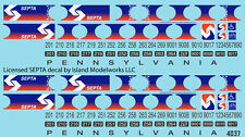 4037 O scale SEPTA Silverliner II decals by Island Modelworks