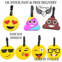Emoji Luggage Tags Bag Travel Tags Various Emoji Expressions UK stock Vincenza