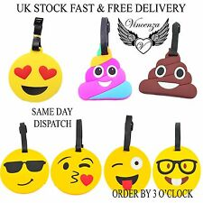 Emoji Luggage Tags Bag Travel Tags Various Emoji Expressions UK stock Vincenza
