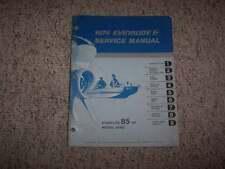 1974 Evinrude 85 HP Starflite Outboard Motor Shop Service Repair Manual Guide