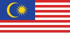 Malaysia Flag  Bügelbild Markenqualität Waschbar bis 95°C  H7cmxB10cm