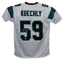 Luke Kuechly Autographed/Signed Carolina Panthers White XL Jersey BAS 20508