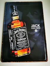 JACK LIVES HERE JACK DANIELS OLD NO7 EMBOSSED TIN SIGN NEW