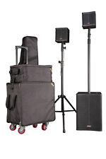 PA Anlage DJ Equipment aktives Kompaktsystem 400W RMS  ink. Hüllen LAX Agili-T1